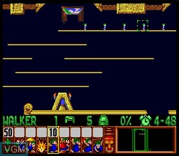 Image in-game du jeu Lemmings sur Nintendo Super NES