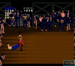 Image in-game du jeu Pit Fighter sur Nintendo Super NES