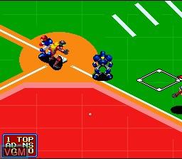 Image in-game du jeu 2020 Super Baseball sur Nintendo Super NES