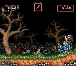 Image in-game du jeu Super Ghouls 'N Ghosts sur Nintendo Super NES