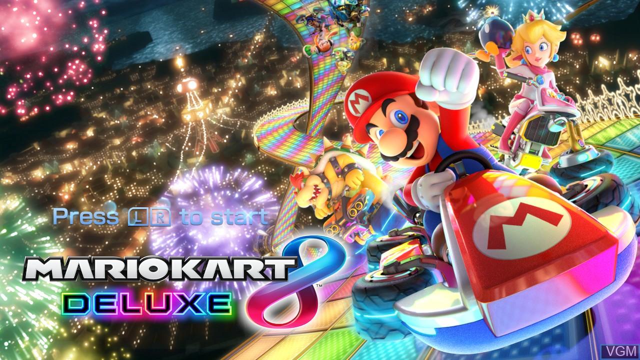 Image de l'ecran titre du jeu Mario Kart 8 Deluxe sur Switch