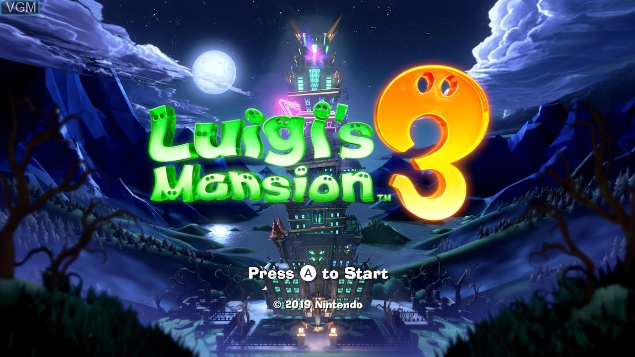 Image de l'ecran titre du jeu Luigi's Mansion 3 sur Switch