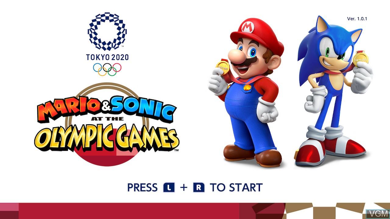 Image de l'ecran titre du jeu Mario & Sonic at the Olympic Games - Tokyo 2020 sur Switch