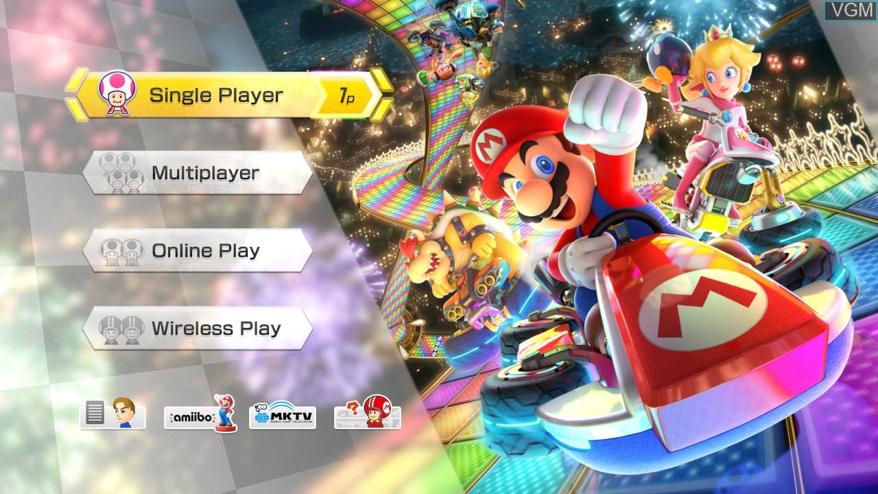 Image du menu du jeu Mario Kart 8 Deluxe sur Switch