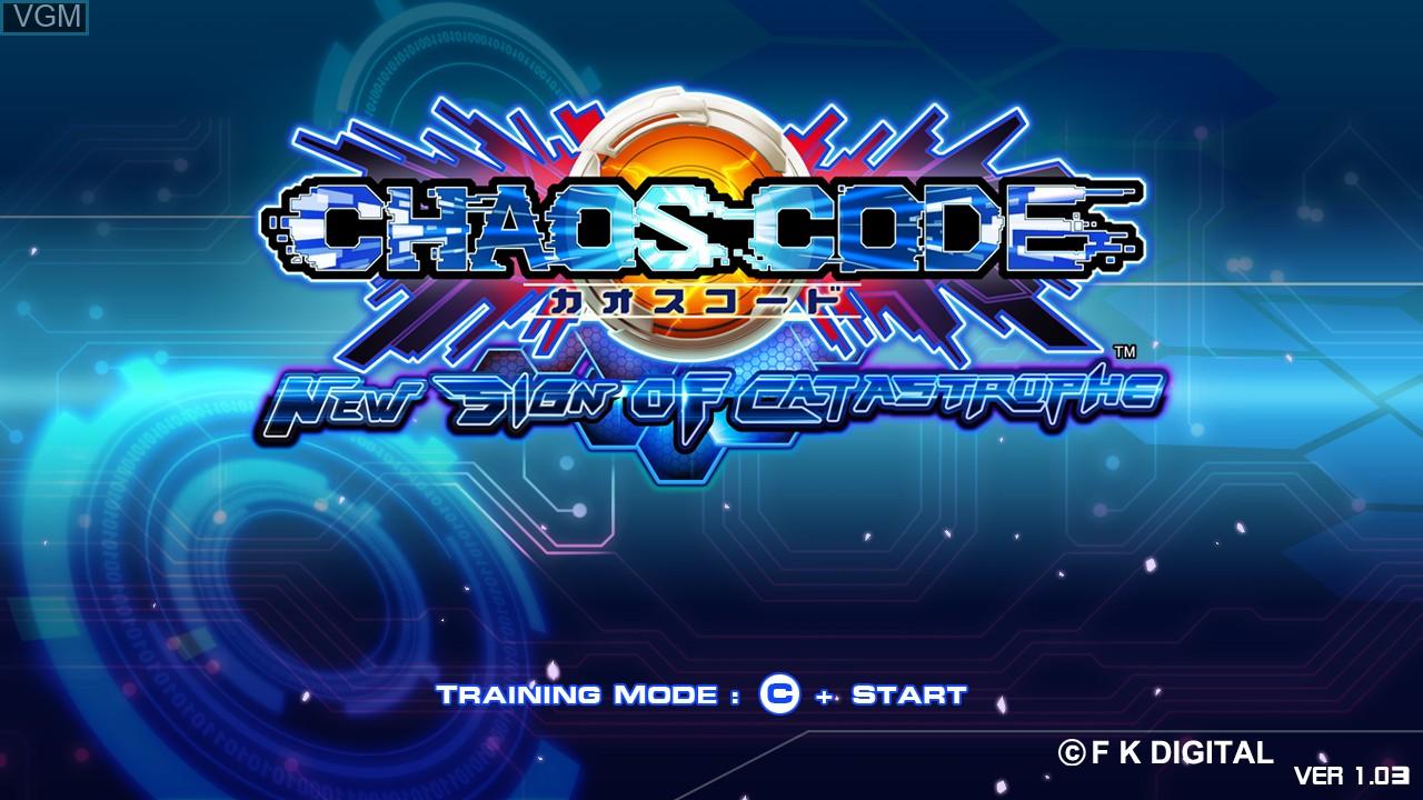 Image de l'ecran titre du jeu Chaos Code -  New Sign of Catastrophe sur Taito Type X