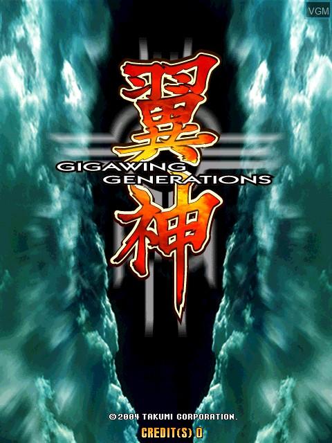 Image de l'ecran titre du jeu Gigawing Generations sur Taito Type X