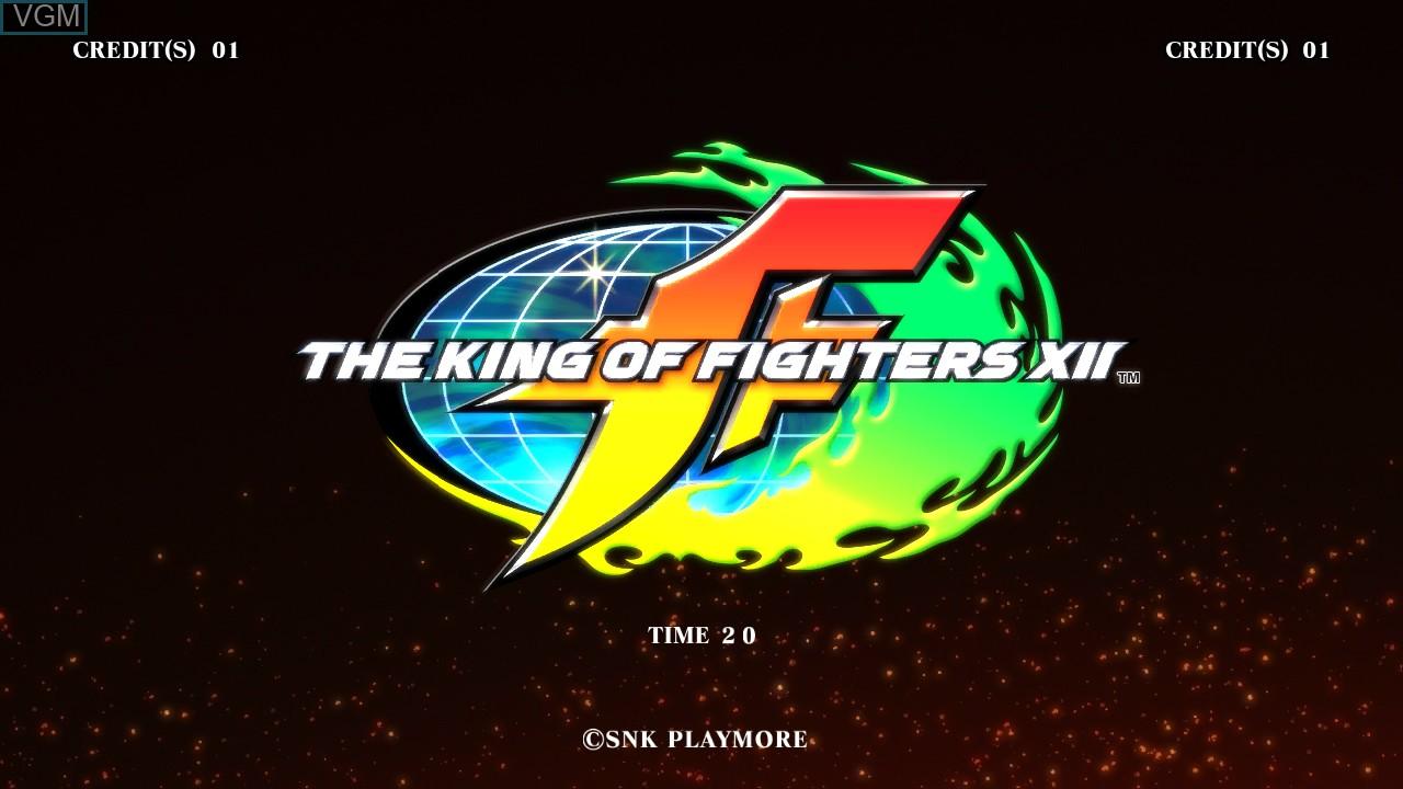 Image de l'ecran titre du jeu King of Fighters XII, The sur Taito Type X
