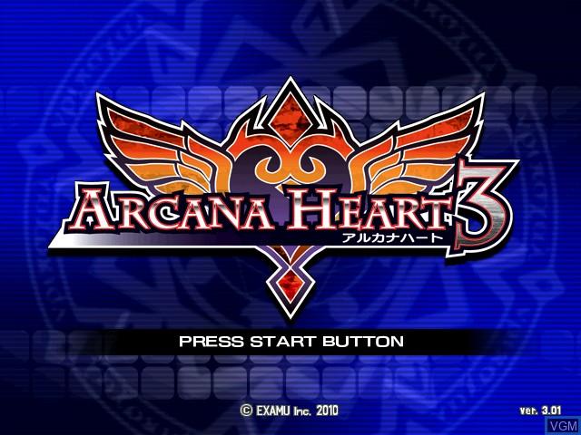Image de l'ecran titre du jeu Arcana Heart 3 sur Taito Type X
