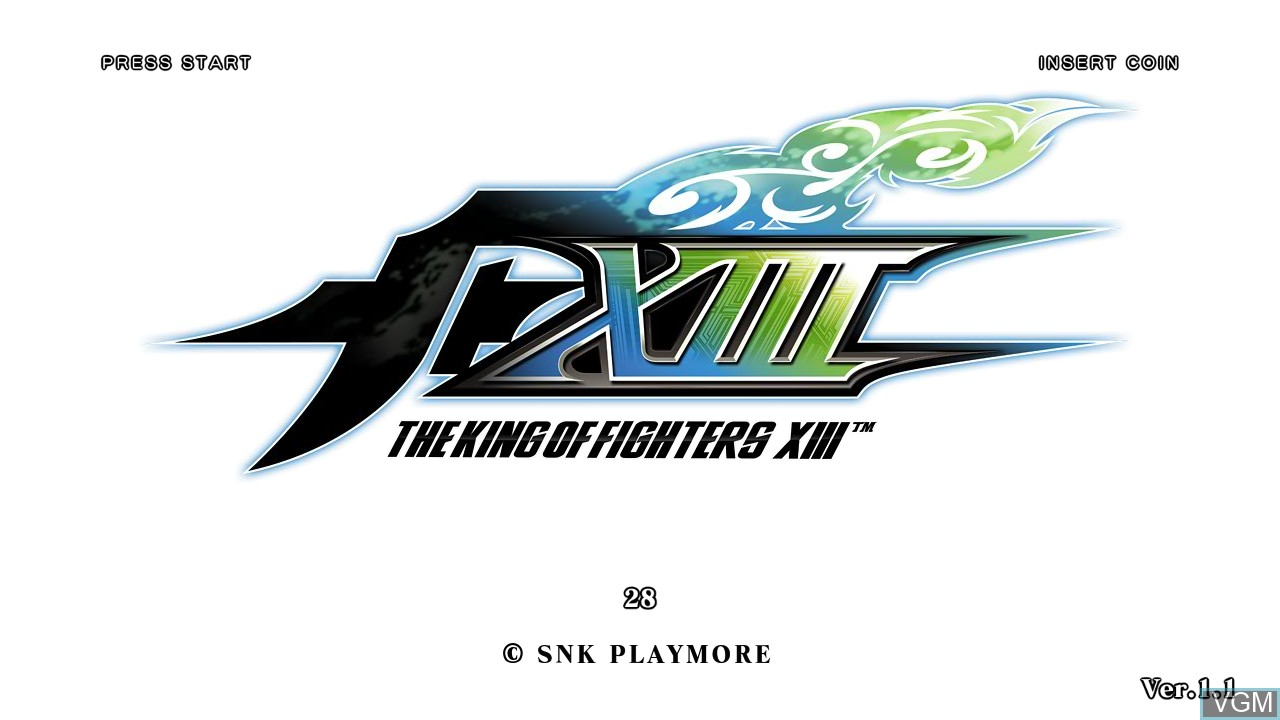 Image de l'ecran titre du jeu King of Fighters XIII, The sur Taito Type X