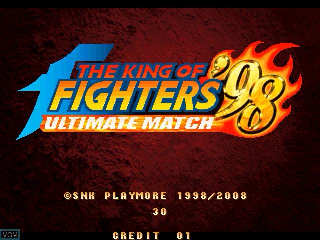 Image de l'ecran titre du jeu King of Fighters 98, The - Ultimate Match sur Taito Type X