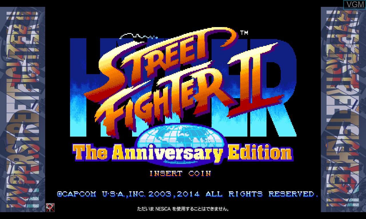 Image de l'ecran titre du jeu Hyper Street Fighter II - The Anniversary Edition sur Taito Type X