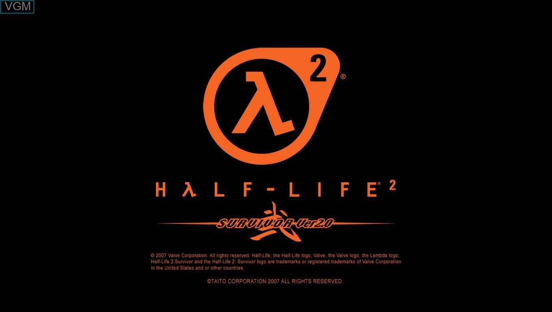 Image de l'ecran titre du jeu Half Life 2 - Survivor Ver. 2.0 sur Taito Type X