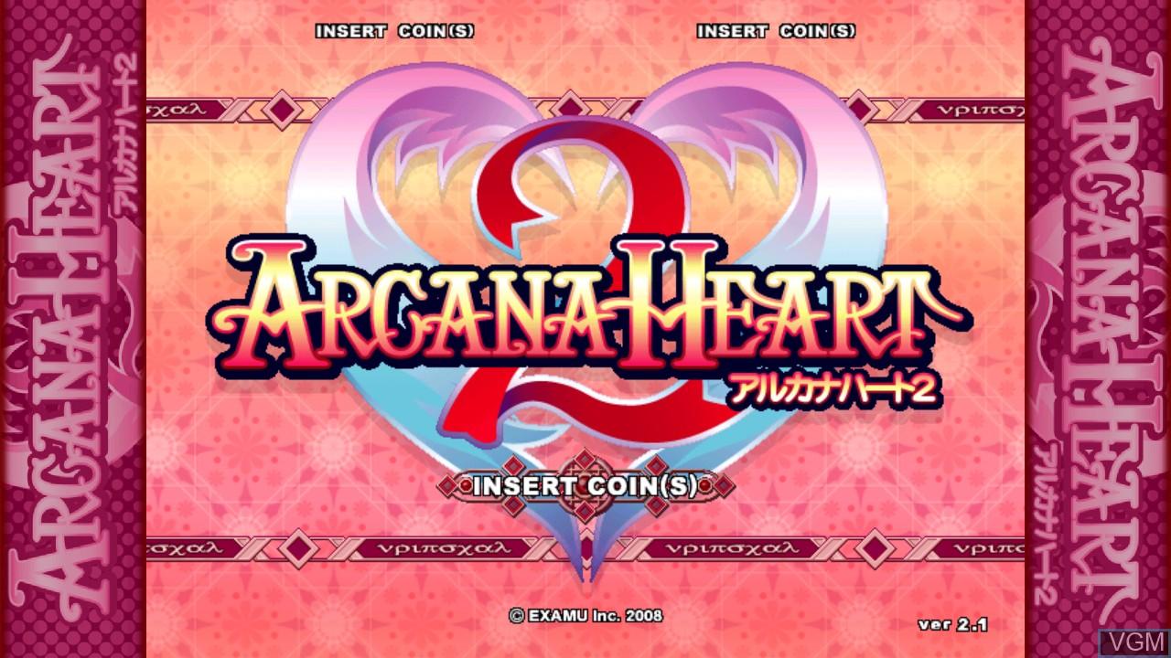 Image de l'ecran titre du jeu Arcana Heart 2 sur Taito Type X