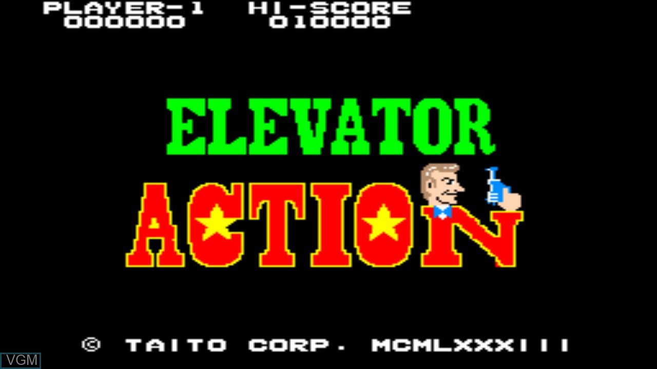 Image de l'ecran titre du jeu Elevator Action sur Taito Type X