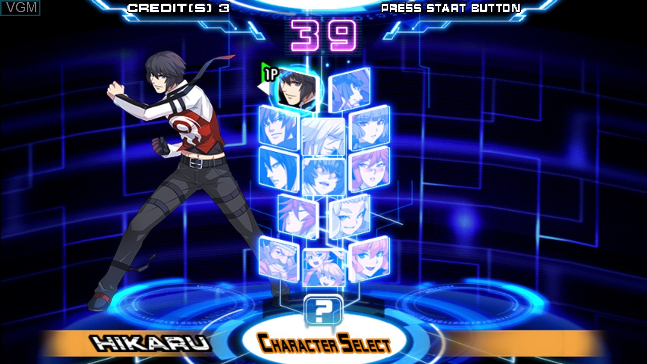 Image du menu du jeu Chaos Code -  New Sign of Catastrophe sur Taito Type X