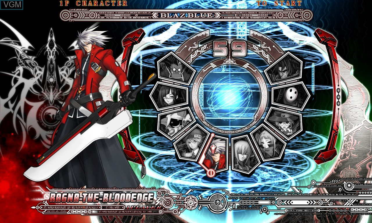 Image du menu du jeu BlazBlue - Calamity Trigger sur Taito Type X