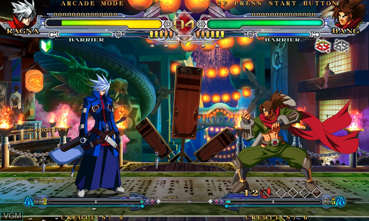 Image in-game du jeu BlazBlue - Continuum Shift sur Taito Type X