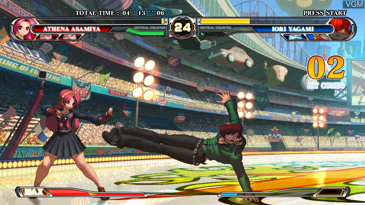 Image in-game du jeu King of Fighters XII, The sur Taito Type X