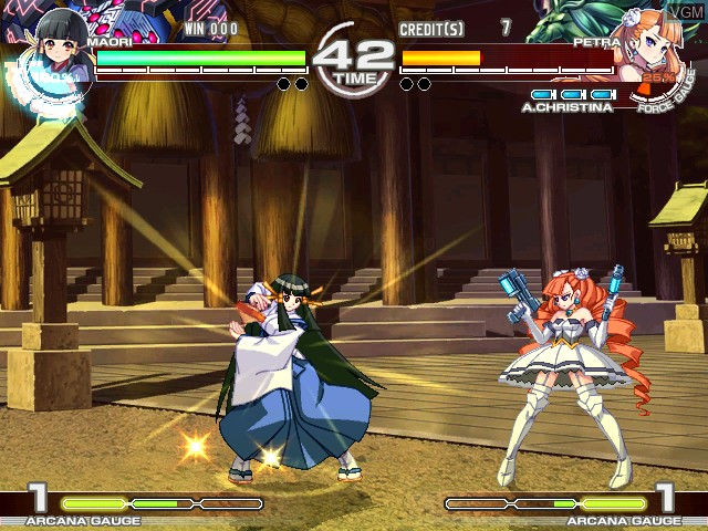 Image in-game du jeu Arcana Heart 3 sur Taito Type X