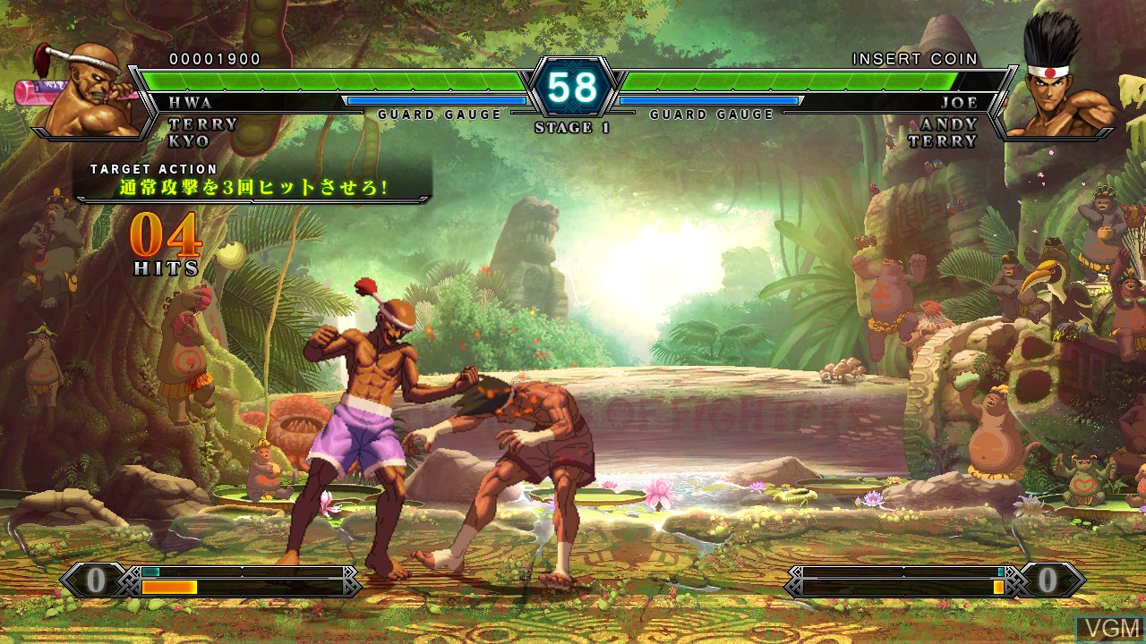 Image in-game du jeu King of Fighters XIII, The sur Taito Type X