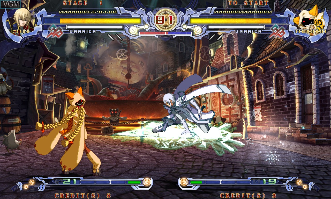 Image in-game du jeu BlazBlue - Calamity Trigger sur Taito Type X
