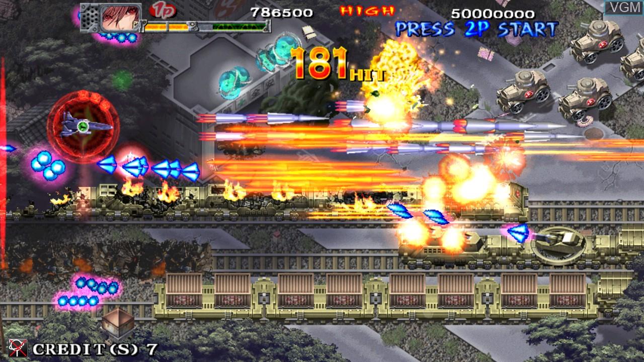Image in-game du jeu Akai Katana Shin sur Taito Type X