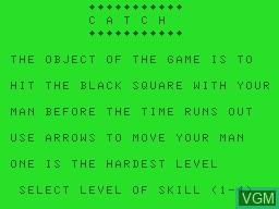 Image de l'ecran titre du jeu Catch sur Tandy MC10