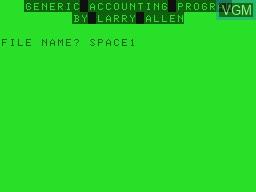 Image de l'ecran titre du jeu Generic Accounting Program sur Tandy MC10