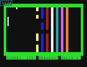 Image in-game du jeu Breakout sur Tandy MC10