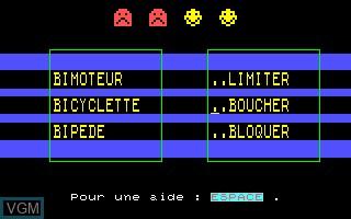 Image in-game du jeu A Demi Mot sur Thomson MO5
