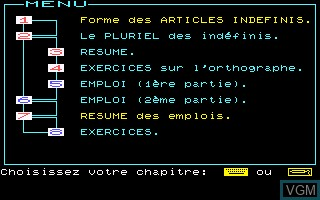 Image in-game du jeu Anglais sur Thomson MO5