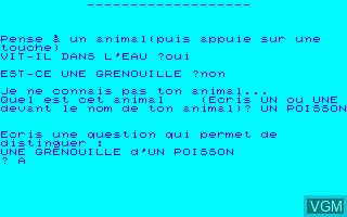Image in-game du jeu Animaux sur Thomson MO5