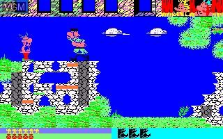 Image in-game du jeu Asterix et la Potion Magique sur Thomson MO5