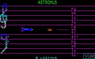 Image in-game du jeu Astromus sur Thomson MO5