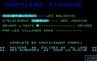 Image in-game du jeu Baladins sur Thomson MO5