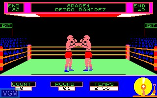Image in-game du jeu Barry Boxing sur Thomson MO5