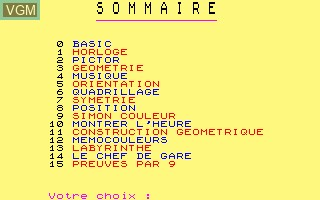 Image in-game du jeu Defi sur Thomson MO5