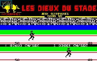Image in-game du jeu Dieux du Stade, Les sur Thomson MO5