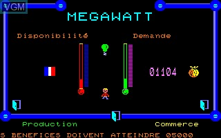 Image in-game du jeu Megawatt sur Thomson MO5