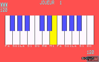 Image in-game du jeu Melodimus sur Thomson MO5