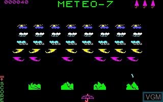 Image in-game du jeu Meteo 7 sur Thomson MO5