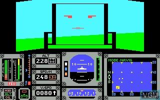 Image in-game du jeu Mission en Rafale sur Thomson MO5