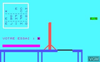 Image in-game du jeu Mpendu sur Thomson MO5
