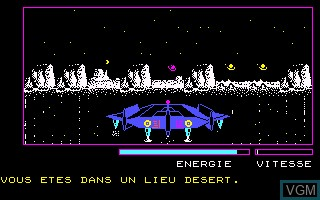 Image in-game du jeu Planete Inconnue, La sur Thomson MO5
