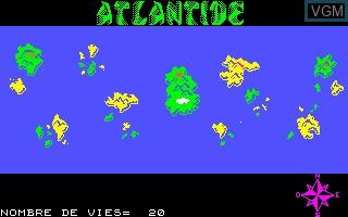 Image in-game du jeu Poseidon sur Thomson MO5