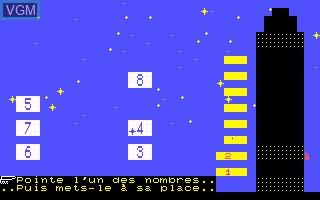 Image in-game du jeu Ranger des Nombres sur Thomson MO5