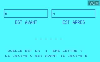 Image in-game du jeu Recherche Dans un Dictionnaire sur Thomson MO5