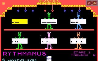 Image in-game du jeu Rythmamus sur Thomson MO5