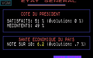 Image in-game du jeu Votez pour Moi sur Thomson MO5