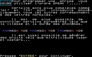 Image in-game du jeu Vox sur Thomson MO5